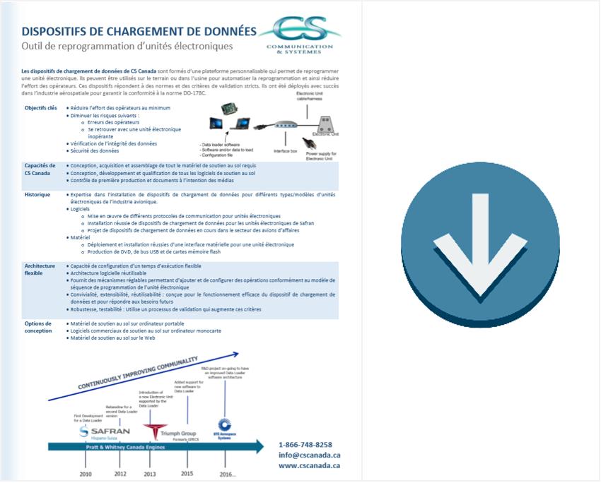 Brochure Chargeurs de données