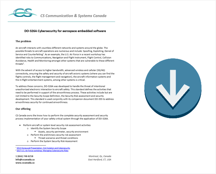 DO-326A cybersecurity brochure download