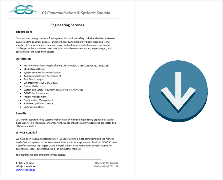 engineering services brochure download