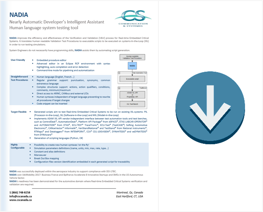 NADIA brochure download