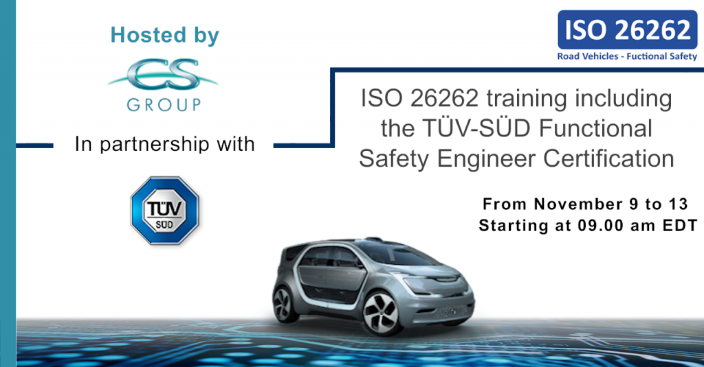Postcard: ISO 26262 Training & TÜV-SÜD Functional Safety Certification